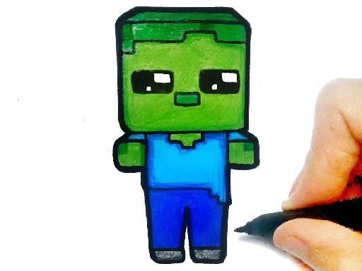 Play Easy Kids Coloring Minecraft Online