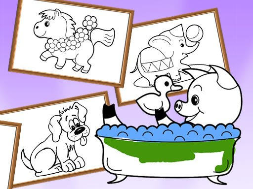Cartoon Coloring for Kids - Animals
