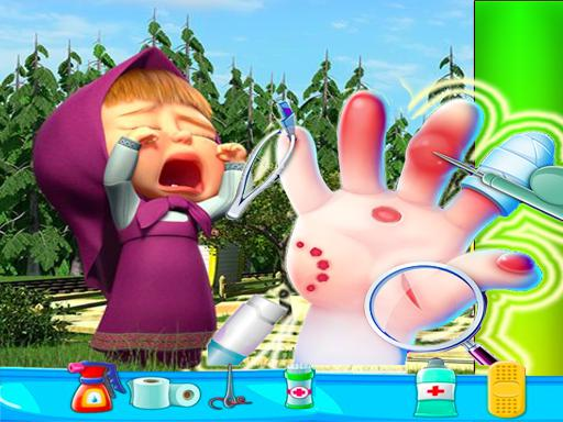 Masha Bee Hand Doctor Game Online - Hospital Surge