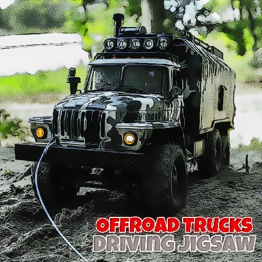Offroad Trucks Driving Jigsaw