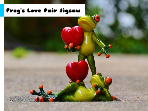Frog's Love Pair Jigsaw