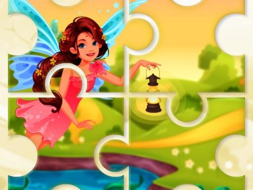 Маленькая милая летняя фея-головоломка
