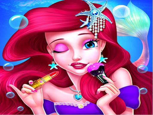 Макияж принцессы-русалки – игра Салон моды для девочек