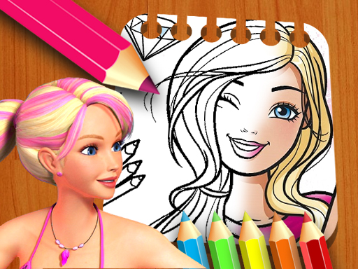 Книжка-раскраска кукла Барби