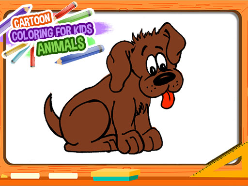 Cartoon Coloring Book for Kids - Animals