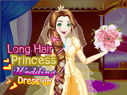 Long Hair Princess Wedding Dress up