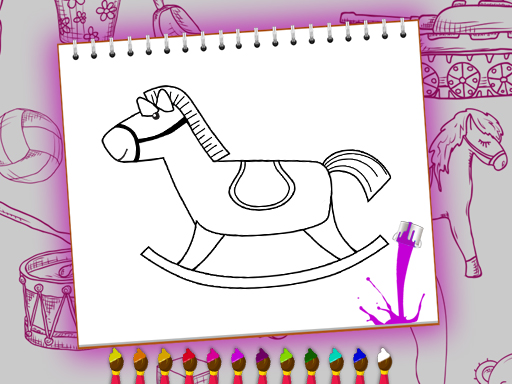 Play Coloring Book: Toy Shop