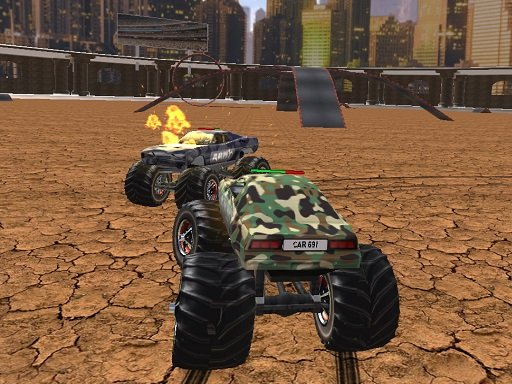 Demolition Monster Truck Army