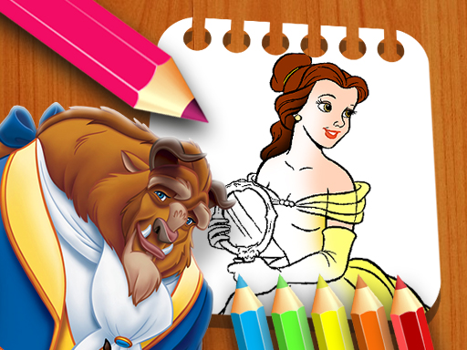 Play Beauty & the Beast Coloring Book