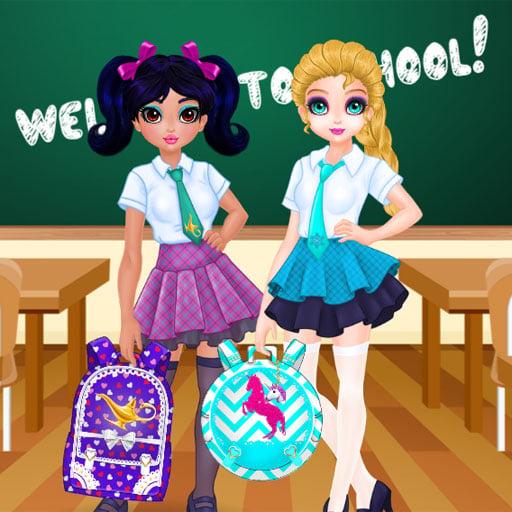 Jasmine and Elsa - School Bag Design Contest