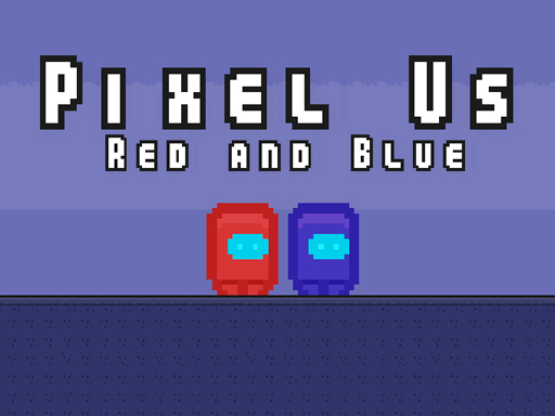 Pixel Us Red and Blue
