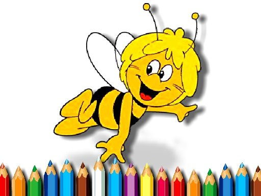 Play Maja the Bee Coloring Book Online