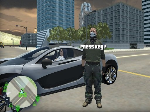 Crazy GTA Mercenary Driver