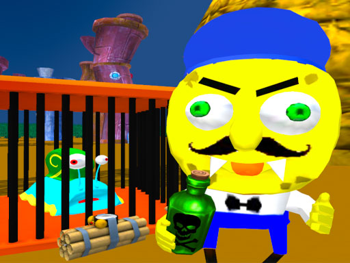Побег Соседа Губки 3D