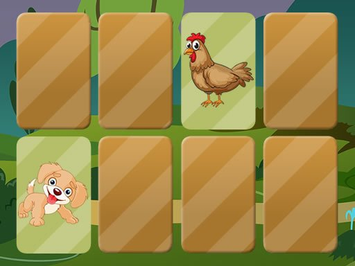 Play Domestic Animals Memory Online