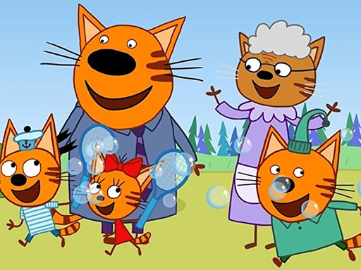 Семейные обучающие игры про кошек