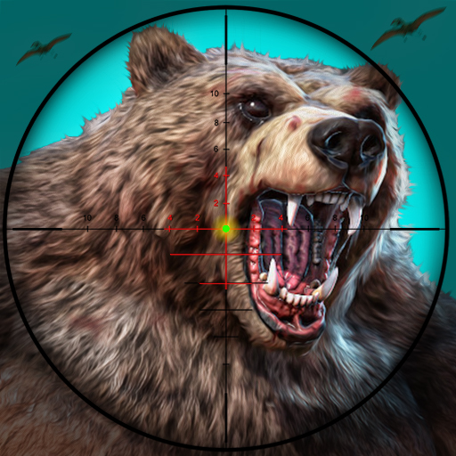Wild Bear Hunting sniper shooting