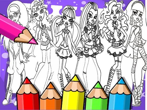 Книжка-раскраска Monster High