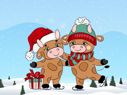 Play Cute Christmas Bull Difference Online