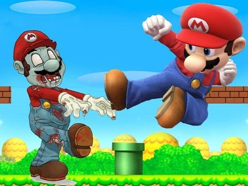 Супер Марио стрелять в зомби