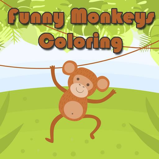 Funny Monkeys Coloring