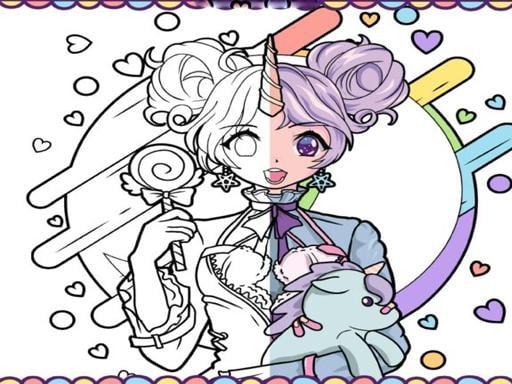Anime Girls Coloring Book: Pop Manga Coloring