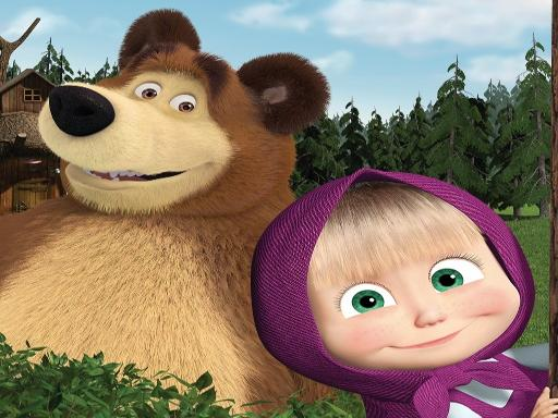 Farm Masha and the Bear Educational Games online