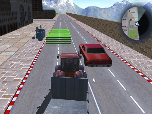 Tractor Driving Garbage collect