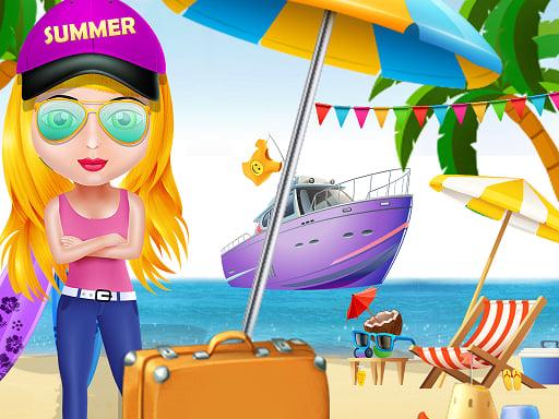 Play Girl Summer Vacation Beach Dress up