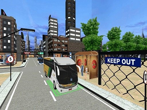 Play City Coach Bus Passenger Driving :Bus Parking 2021