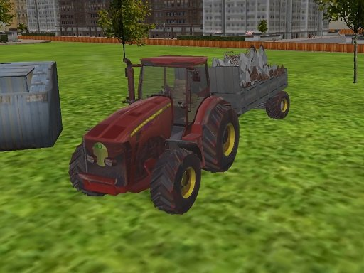 Play 3D city tractor garbage sim