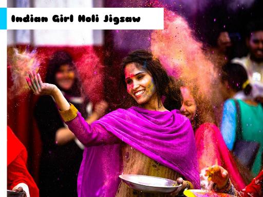 Play Indian Girl Holi Jigsaw Online